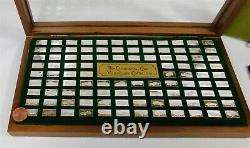 Franklin Mint Centennial Car 100 Mini Ingot Collection Sterling Silver Case Book