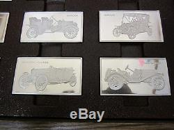 Franklin Mint Centennial Car Ingots Collection Sterling Silver Set 208oz