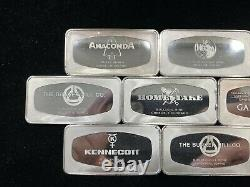 Franklin Mint Collection of Official Silver ingots of the Great Western Mines