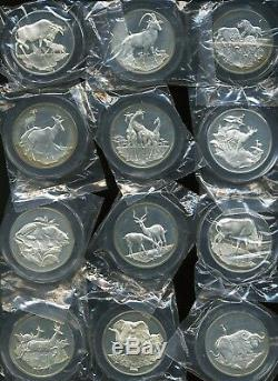 Franklin Mint East African Wild Life Society 2 oz Sterling Silver (Lot of 20)