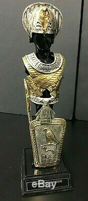 Franklin Mint Egyptian Warrior Armor In Pewter With Sterling Silver & 24 Kt Gold