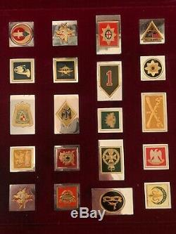 Franklin Mint Emblems Of The World's Greatest Regiments Solid Sterling Silver