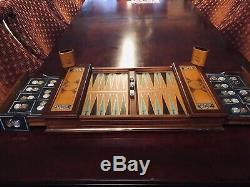 Franklin Mint Excalibur Backgammon Set WithGold, Silver Coin pieces