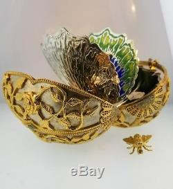Franklin Mint Faberge Egg The Emergence of Spring Silver & Gold only 750 made