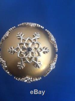 Franklin Mint Faberge Winter Enchantment Egg Silver, 24K Gold, Sapphires