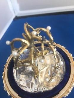 Franklin Mint Faberge Winter Enchantment Egg Silver, 24K Gold, Sapphires