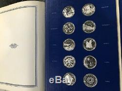 Franklin Mint Fifty-State Bicentennial Medal Collection Sterling Silver. 52 Oz