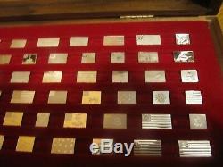 Franklin Mint Flags Of American Revolution 64 Pcs Mini Set. 925 Silver In Box