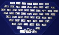 Franklin Mint Gemstones of the World 63 Sterling Silver Ingot Set 3 Grams Each