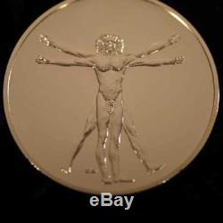 Franklin Mint Genius of Leonardo Da Vinci 102 Oz Sterling Silver