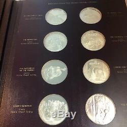 Franklin Mint Genius of Michelangelo Silver Proof Coin Medal Set Sistine Chapel