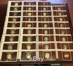 Franklin Mint Golden Treasures Ancient Egypt 24K Gold Sterling Silver Medals 35
