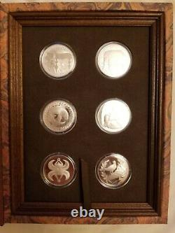 Franklin Mint Good Luck Medals 12 Sterling Silver in Case Set
