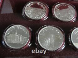 Franklin Mint Great American Landmarks Sterling Silver Proof 20 Medal Set