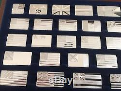 Franklin Mint Great Flags of America Sterling silver 42 mini ingots perfect con
