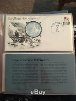 Franklin Mint Great Historic Sites of America Set 25 Silver Coins Volume 1