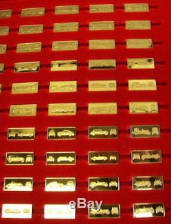 Franklin Mint Great Performance Cars Miniature Ingot 24k Gold On Sterling Silver