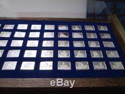 Franklin Mint Great Sailing Ships of History 50 Mini-Ingots Sterling Silver 1976