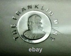 Franklin Mint HLP 5000 Grains Solid Sterling Silver Bar in Lucite 10.42 Troy