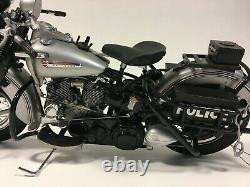 Franklin Mint Harley Davidson 1948 Panhead Police Motorcycle 110 Scale Model