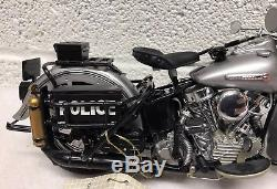 Franklin Mint Harley Davidson Panhead Police Bike Motorcycle 110 Scale 2003