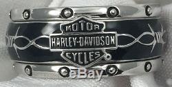 Franklin Mint Harley Davidson Rumble Roll Sterling Silver Ring Size 11 Mens 84v5