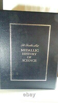 Franklin Mint History Of Science 38 Ingot Of Sterling Silver In Album