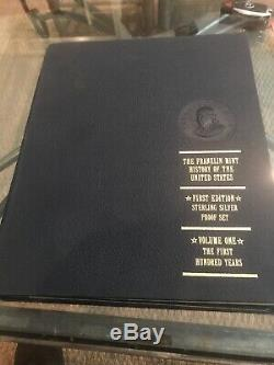 Franklin Mint History Of The United States First Edition Sterling Silver