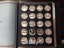 Franklin Mint History of Flight 100 Solid Silver Coins Uncirculated, Proof Set
