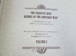 Franklin Mint History of the American West Vol. 1 & 2 Gild-Sterling Silver 54oz's