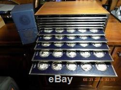 Franklin Mint History of the United States 1776-1976 200 Silver Proofs 250 Oz