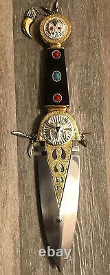 Franklin Mint Indian Talisman Native American Knife Display Box $575 Cost New
