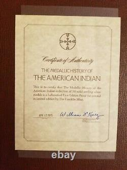 Franklin Mint Medallic History of American Indian 50 Silver Medals Rare