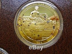 Franklin Mint Medallic History of Mankind 24K Gold / Sterling Silver Orig Owner