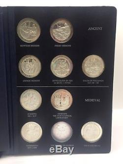 Franklin Mint Medallic History of Medicine Limited Edition Sterling Silver