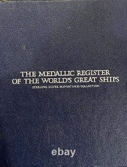 Franklin Mint Medallic Register of the World Great Ships 925er Silver With Cards