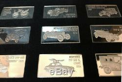 Franklin Mint Mercedes-Benz Anniversary 925 Silver Ingot Collection VERY RARE