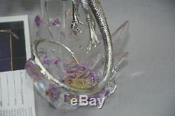 Franklin Mint Michael Whelan Silver Dragon & Crystal Sculpture