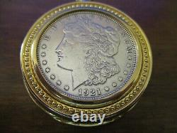 Franklin Mint Morgan Silver Dollar Collector Pocket Watch L004