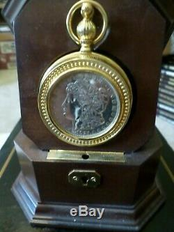 Franklin Mint Morgan Silver Dollar Collector Pocket Watch NEW IN BOX