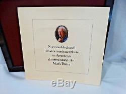 Franklin Mint Norman Rockwell Favorite Moments From Mark Twain Bronze Set