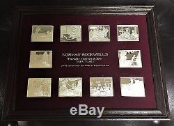 Franklin Mint Norman Rockwell Favorite Moments From Mark Twain Silver Ingots