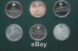 Franklin Mint Norman Rockwell`s Spirit Of Scouting 12 Sterling Silver Medals Set