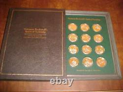 Franklin Mint Norman Rockwell's Spirit of Scouting Sterling Silver Medals Set