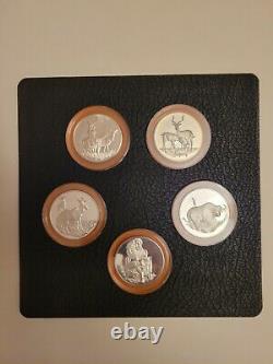 Franklin Mint Official Big Game 20 Medals Sterling Silver 42 Oz Complete Set