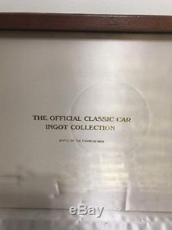 Franklin Mint Official Classic Car Collection 24 Kt Gold Plated on Silver 63 Bar