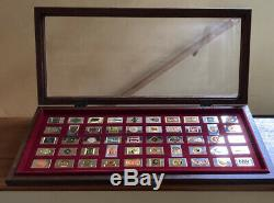 Franklin Mint Official Emblems of the Great American Railroad Sterling Silver
