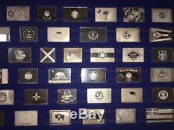 Franklin Mint Official Flags Of The States Silver Complete 50 Bar Ingot Set