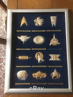 Franklin Mint Official Star Trek Insignia Collection in Silver and Gold