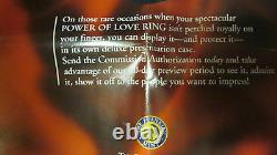 Franklin Mint POWER OF LOVE 925 Sterling Silver Ring 4.9 CARATS Sz 7
